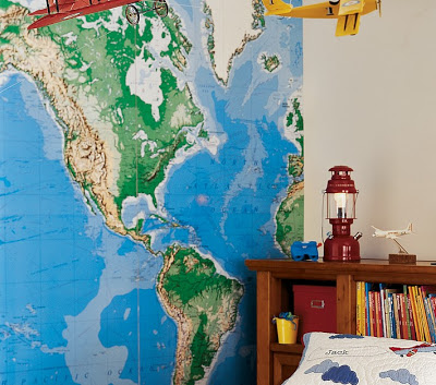 Pottery Barn Kids Jumbo World Map Mural