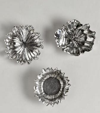 Horchow Silvery Flowers