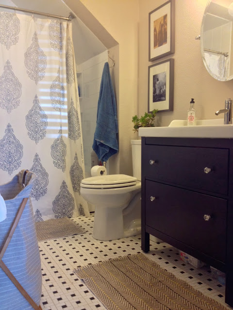 Fabulous In our bathroom we did opt for the Hemnes mirrored cabinet from IKEA instead of the open shelving in the Room Redo since we don ut have any other concealed