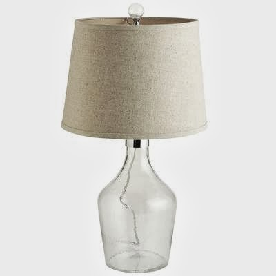 PIER 1 BOTTLE GLASS LAMP