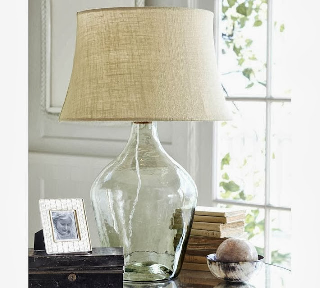 Pottery Barn Clift Glass Table Lamp Copycatchic