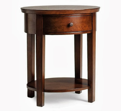 Pottery Barn Valencia Oval Bedside Table