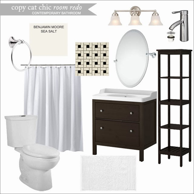 Marvelous Copy Cat Chic Room Redo Contemporary Bathroom now with remodel pics