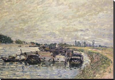 Art.com Garage de Bateaux a Saint-Mammes, 1885