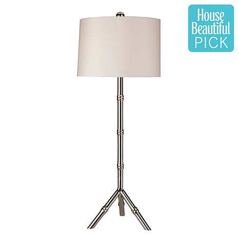 HSN STANTON SILVER TABLE LAMP