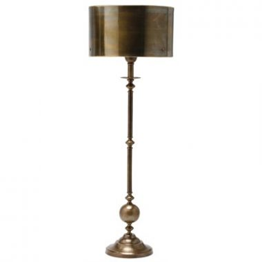 Arteriors Vance Antique Brass Candlestick Lamp