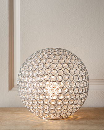 crystal ball glass stacked ideas design lamp uk table