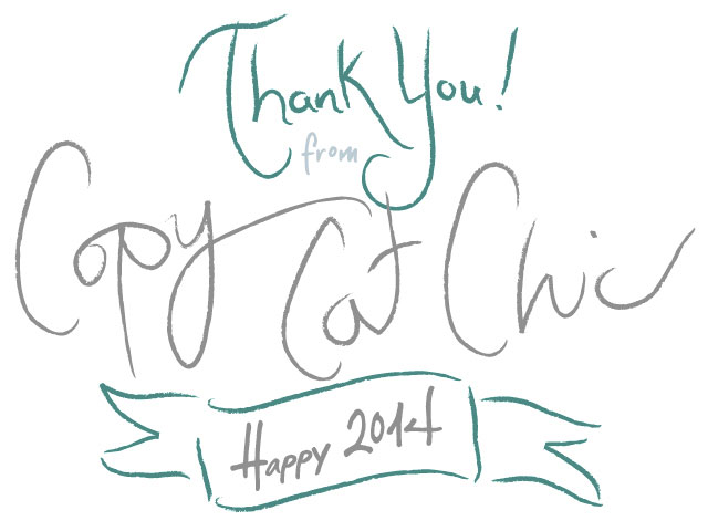 Happy New Year from Copy Cat Chic!