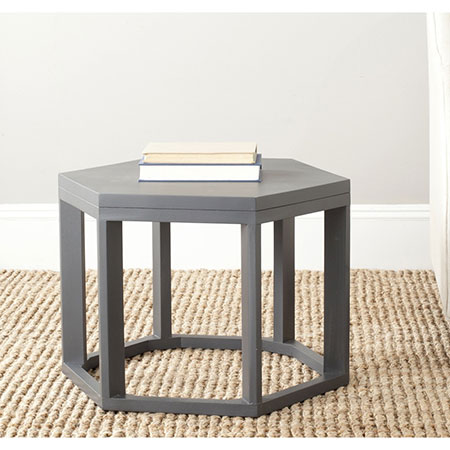 Overstock Safavieh Heidi Charcoal Grey End Table