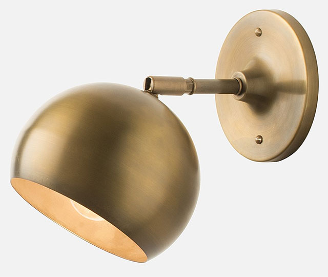 Schoolhouse Electric Isaac Sconce Brass