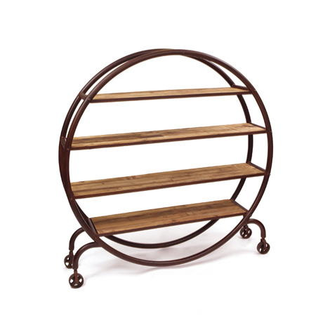 Hudson Goods Round Industrial Bookshelf Copy Cat Chic