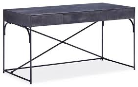 OVERSTOCK POTRERO HILL DISTRESSED BLACK METAL STUDENT DESK