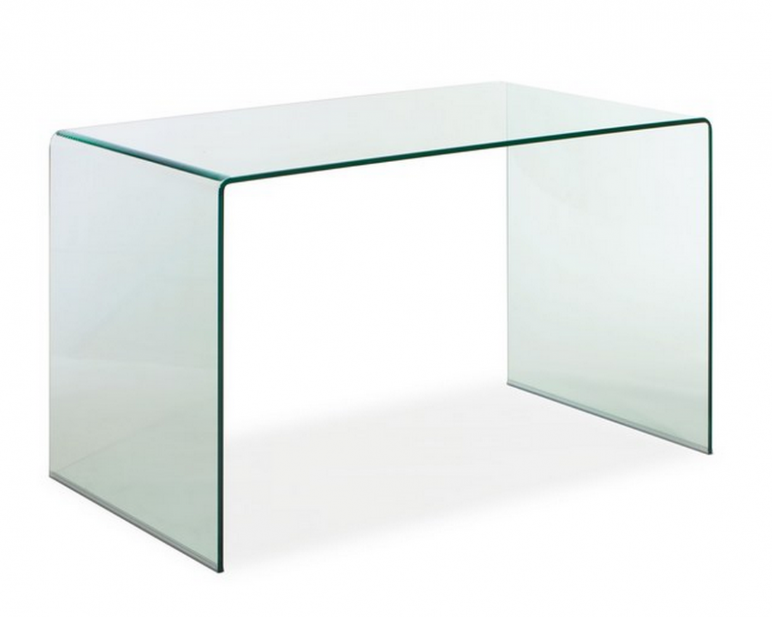 Clear Glass Executive Desk
