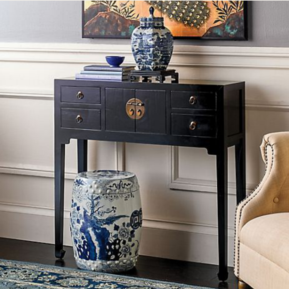 Gump's Mandarin Console Table Black