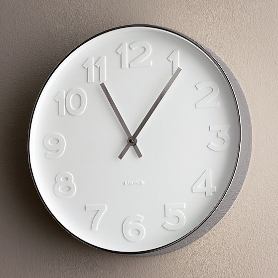 West Elm Mr White Wall Clock Copy Cat Chic