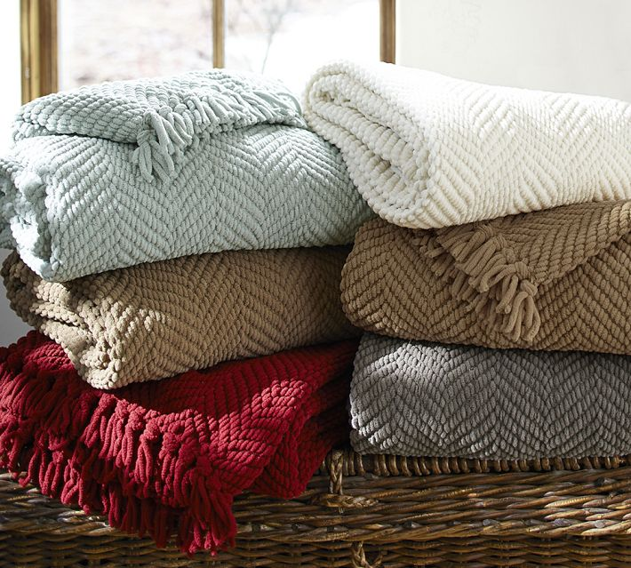 Holiday Decor Gift Ideas Pottery Barn Edition All My: Pottery Barn Grand Chenille Throw
