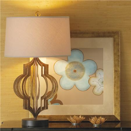 Shades Of Light Gold Cage Table Lamp