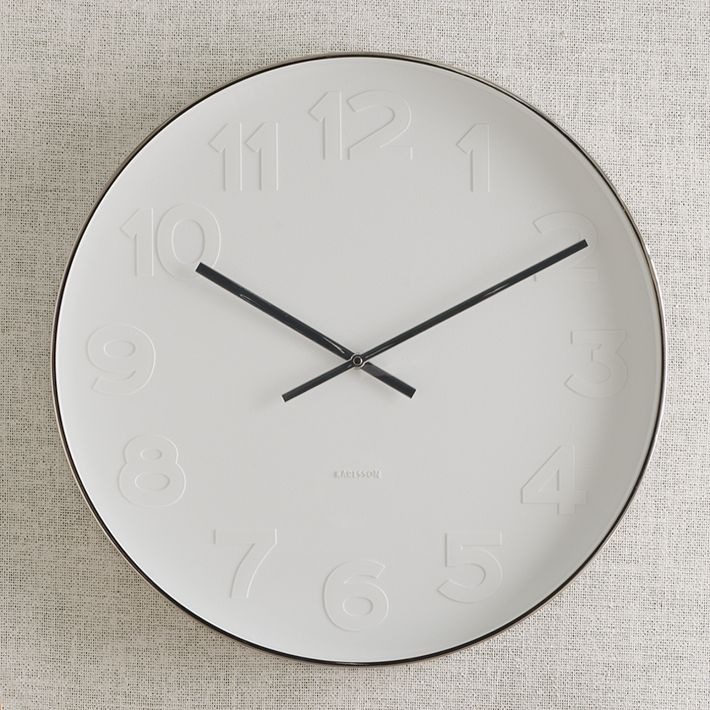 West Elm Mr. White Wall Clock