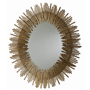 Arteriors Prescott Oval Iron Mirror