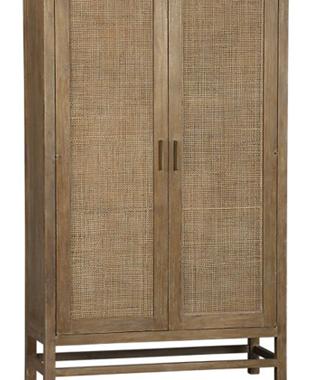 Reader Request | Crate and Barrel Blake Grey Wash 2-Door Cabinet