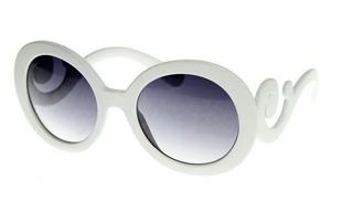 Designer Oversized High Fashion Sunglasses with Baroque Swirl Arms