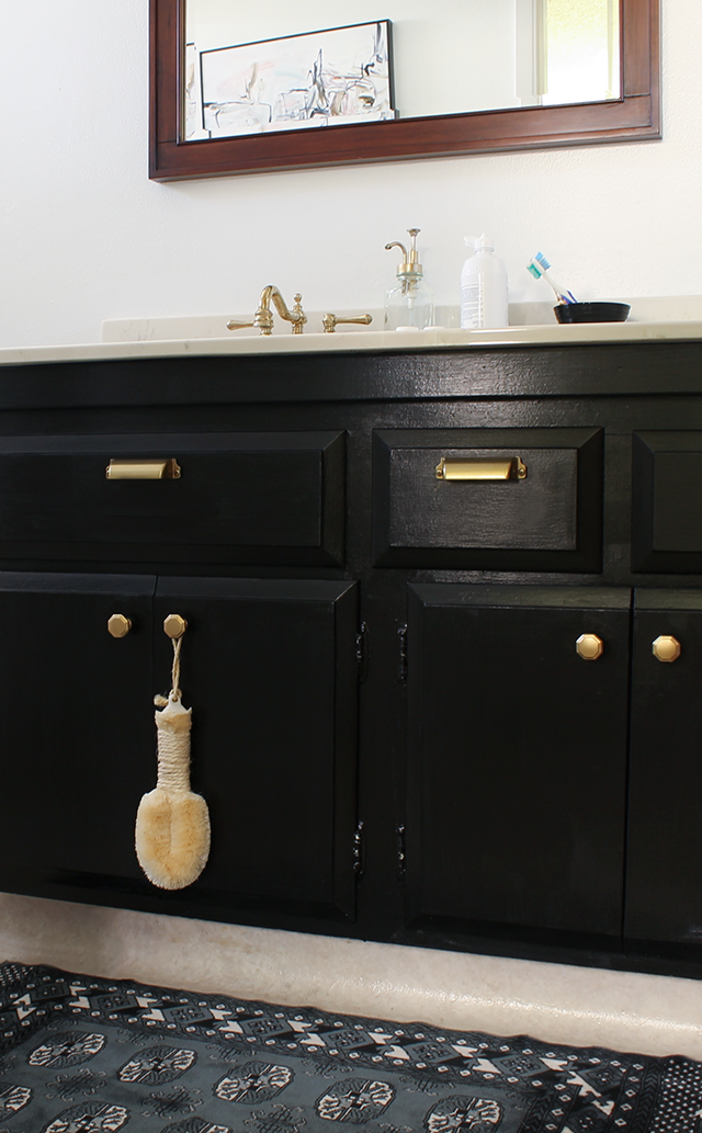 Cute I repainted the vanity ublack Oh I thought about painting the walls black like so many of you mentioned in the