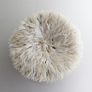 Neiman Marcus White Feather Headdress Wall Decor