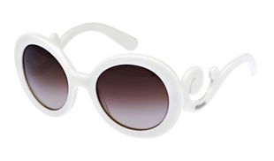 PRADA BAROQUE PR27 WHITE SUNGLASSES