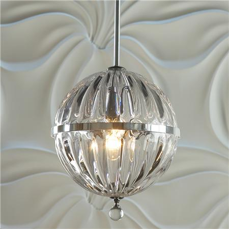 Cyan Janus Wide Chrome Pendant Light Copycatchic