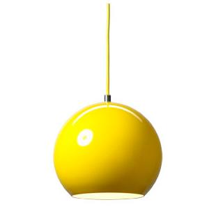 Verner Panton Topan Pendant Lamp Shiny Yellow