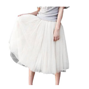 LITTLE HAND WOMEN'S 5 LAYERS TUTUS VOILE PUFF PRINCESS SKIRT