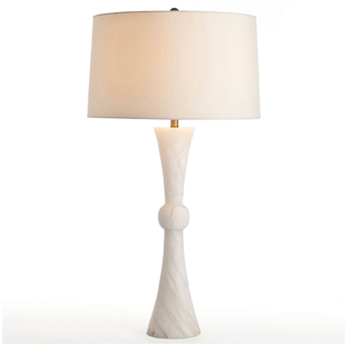 Arteriors Noah Snow Marble Table Lamp