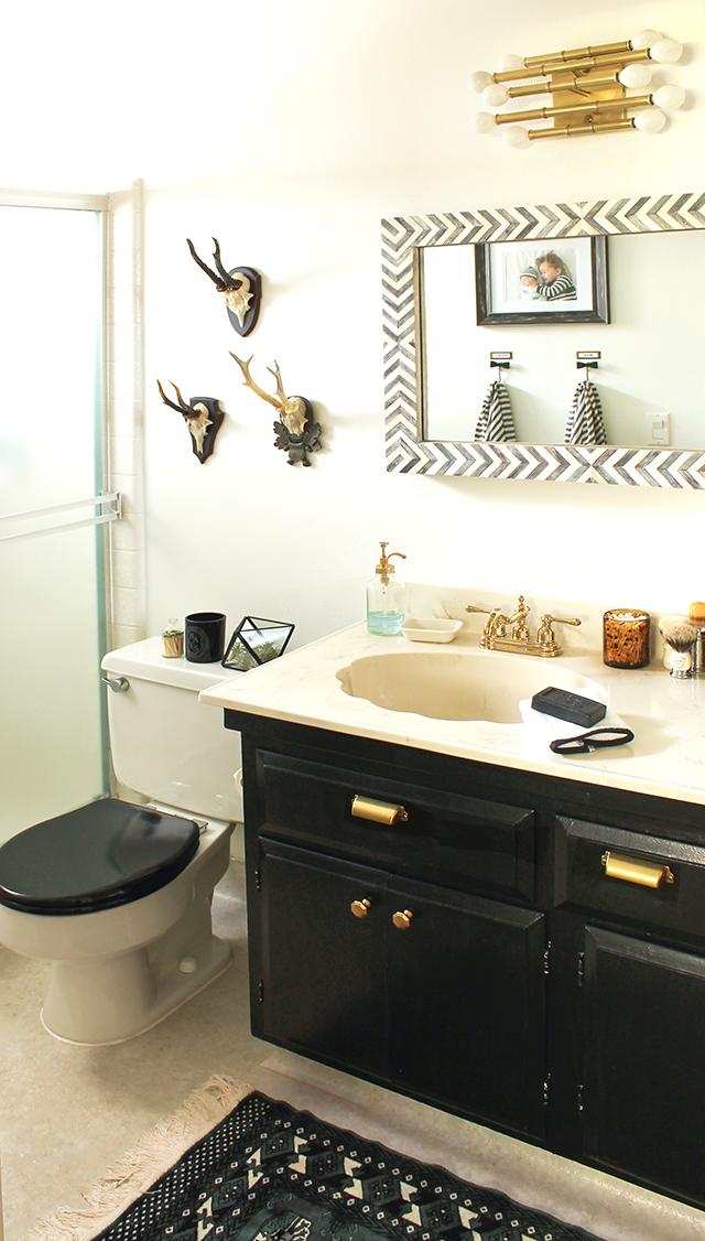 Bathroom Makeovers Under $500 one room challenge   week 6 - copycatchic