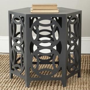 Overstock Safavieh Natanya Charcoal Grey Side Table