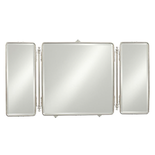 Waterworks Daphne Metal Rectangular Trifold Mirror Copy