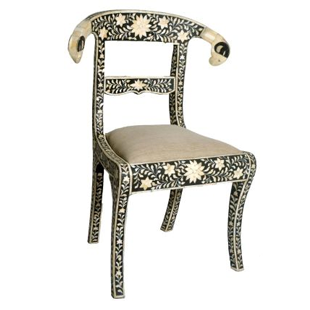 Rugs USA Ethno Bone Inlay Accent Chair Bone