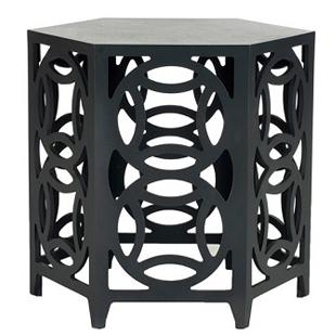 Zinc Door Natanya Charcoal Gray Side Table