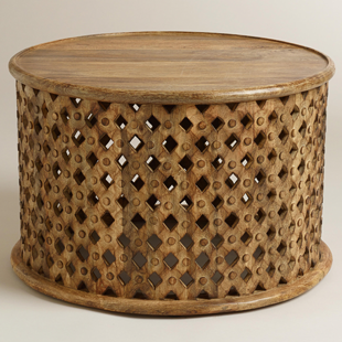 Anthropologie Lattice Drum Coffee Table Copy Cat Chic