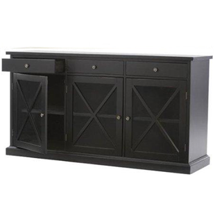 Home Decorators Hampton Sideboard in Worn Black