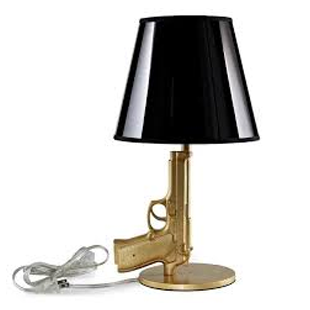 LexMod Walther Table Lamp in Antiqued