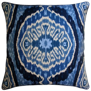 Tonic Home Masala Blue Linen Pillow