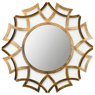 Zinc Door Inca Sunburst Mirror