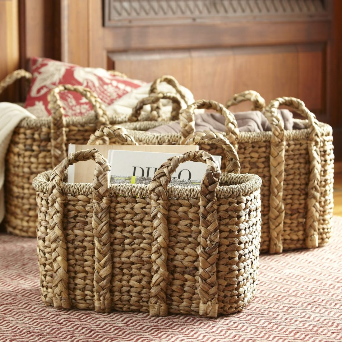 BIRCH LANE HANDLED STORAGE BASKET