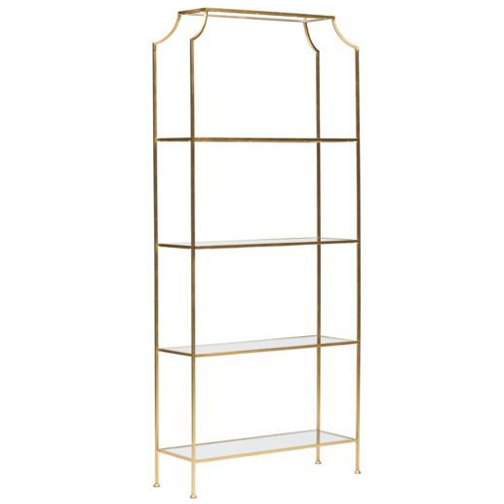 High Fashion Home Chloe Gold Etagere