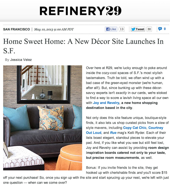 Joy & Revelry & Copy Cat Chic in Refinery 29