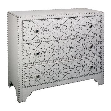 Kirkland's Beige Linen Upholstered Chest