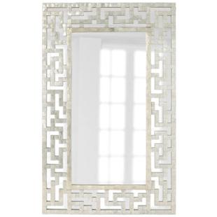 Neiman Marcus Capiz Fretwork Mirror