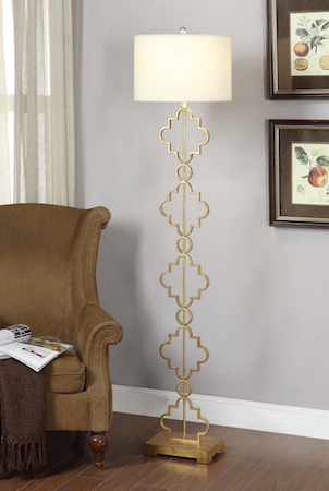 Overstock Gold Leaf Moroccan Floor Lamp