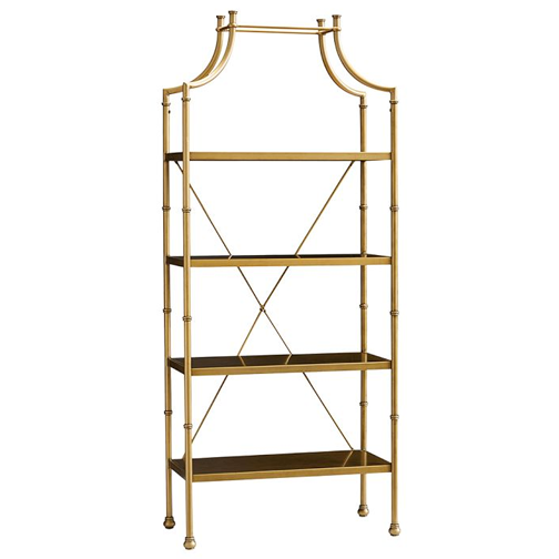 high fashion home chloe gold etagere copy cat chic. Black Bedroom Furniture Sets. Home Design Ideas