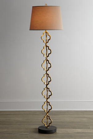 Horchow Regina Andrews Quatrefoil Floor Lamp